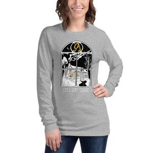 Let's Stay Inside Long Sleeve Tee (white print)
