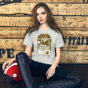 Let's Stay Inside Unisex T-Shirt (vintage print)