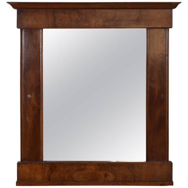 Veneered Walnut Mirror