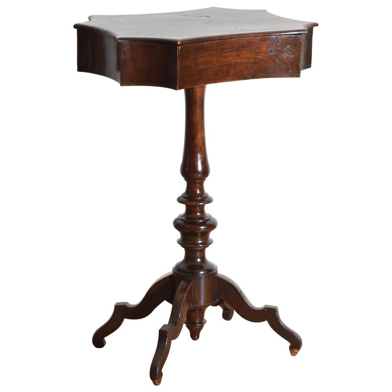 Walnut Shaped Sliding-Top Table