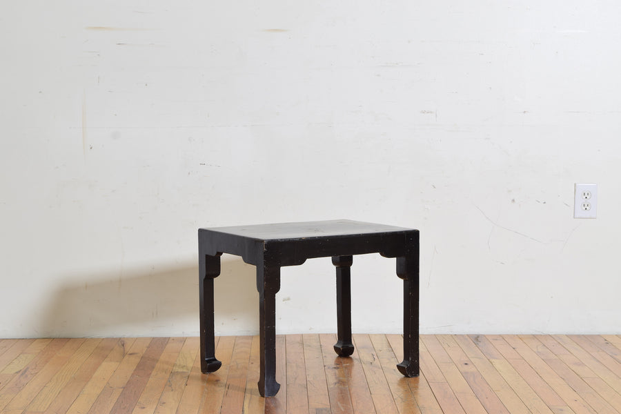 Ebonized and Raised Gilt Chinoiserie Low Table