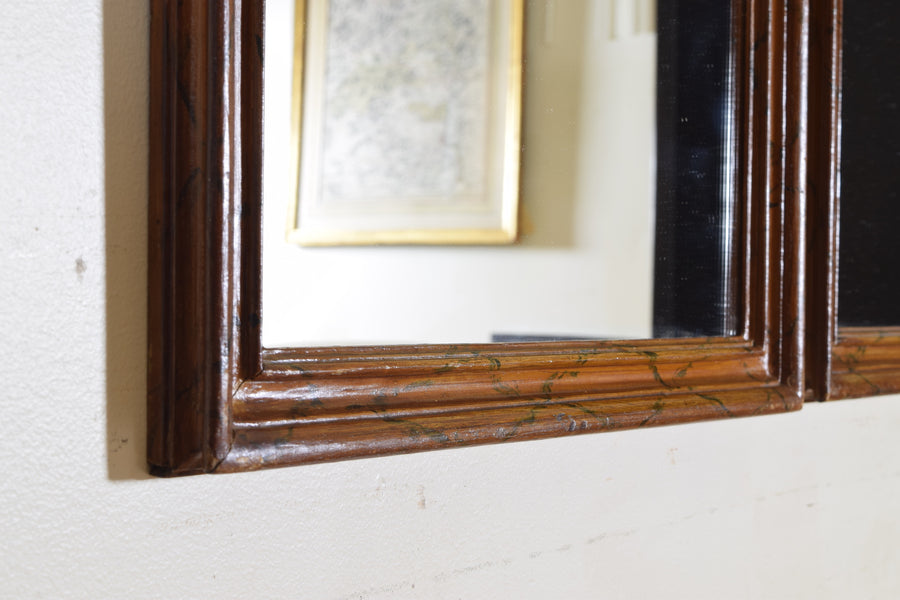 Set of 4 Faux Marble Painted Mirrors