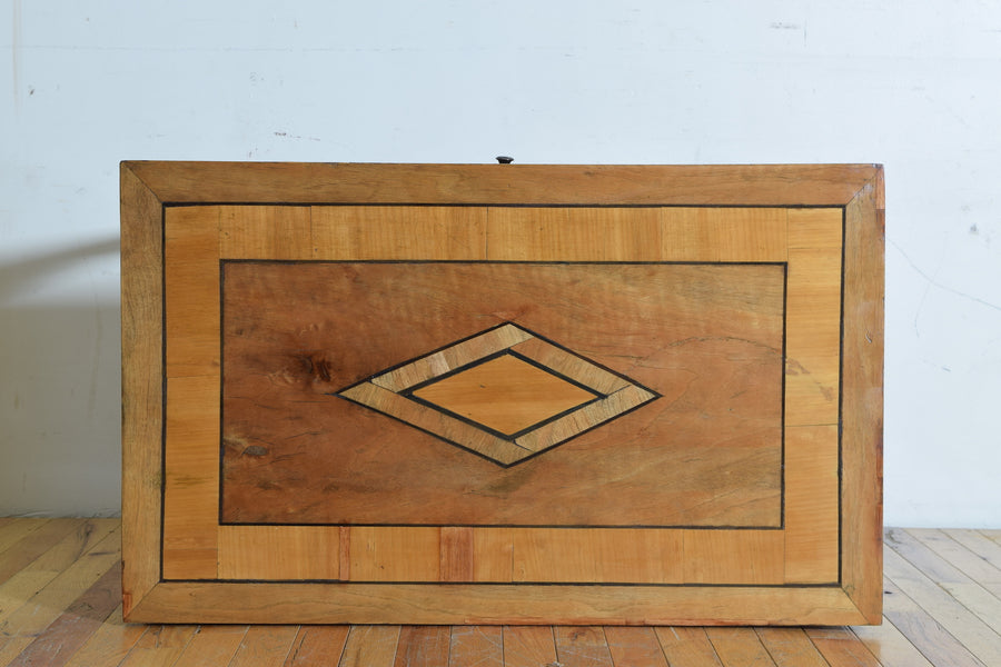 Walnut and Inlaid 1-Drawer Writing Table