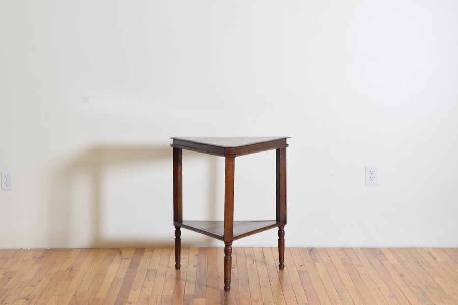 Cherrywood Triangular 2-Tier Table