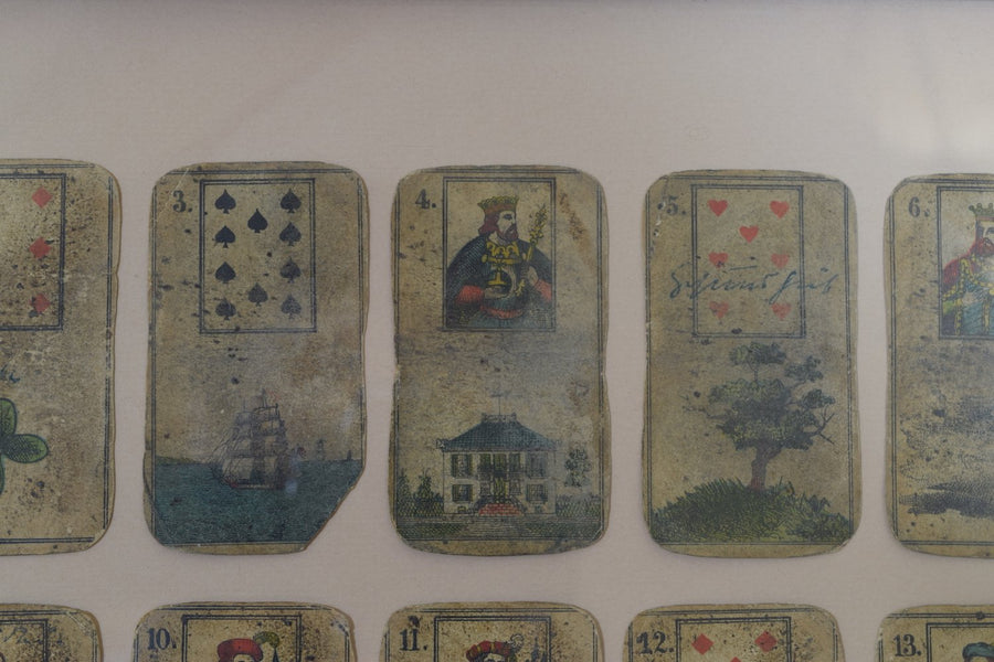 Framed Collection of Tarot or Playing Cards