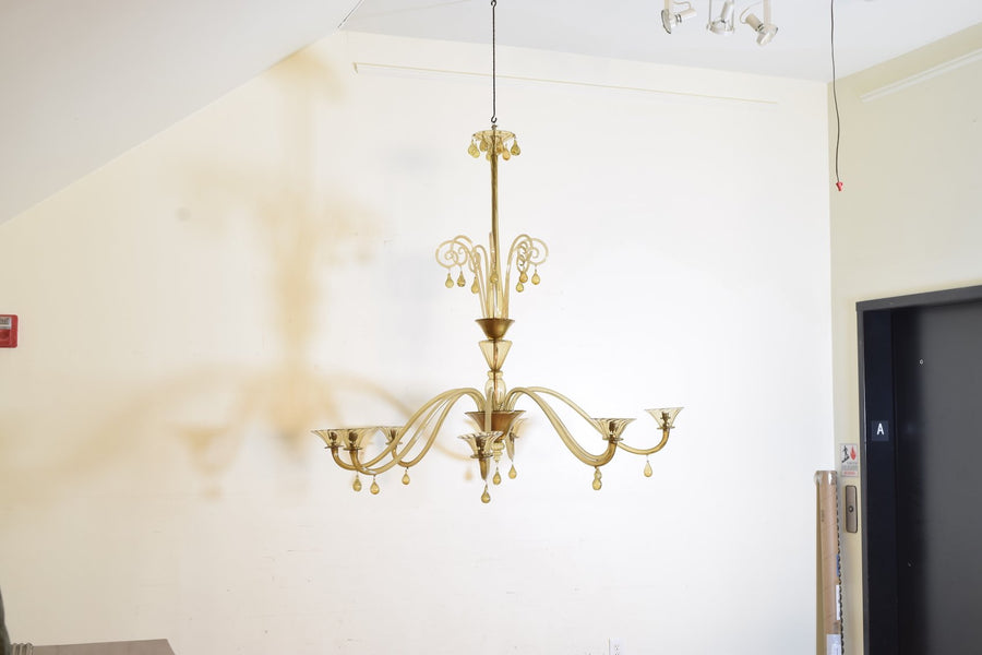 Metal and Murano Glass Chandelier, MVM Cappellin