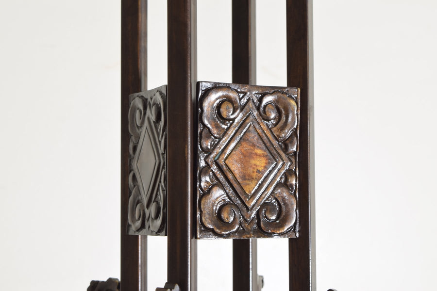 Bronze and Glass 8-Light Chandelier