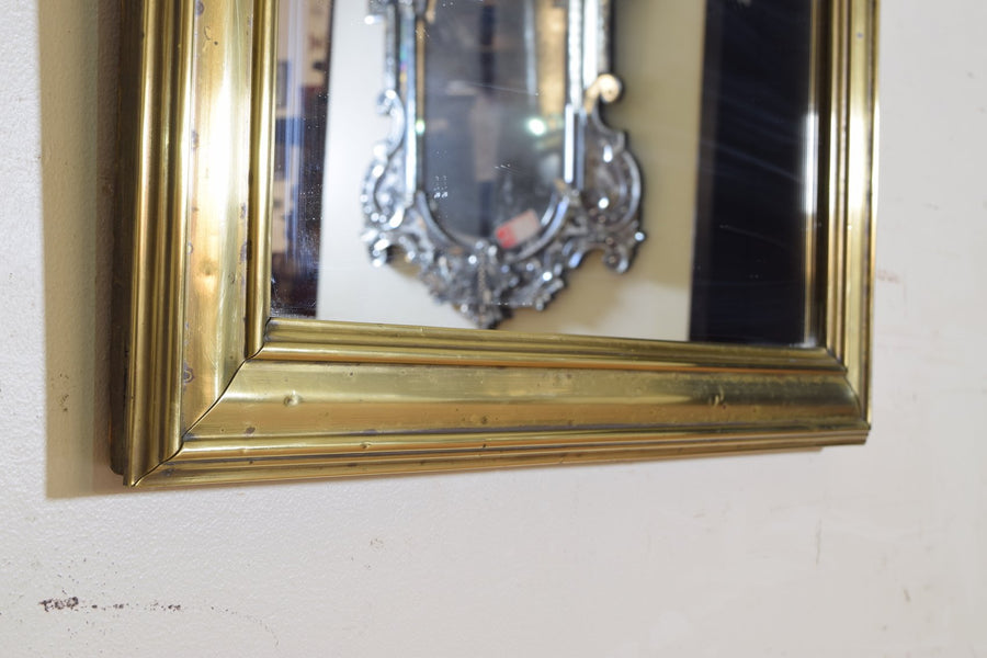 Brass Mounted Bistro Mirror