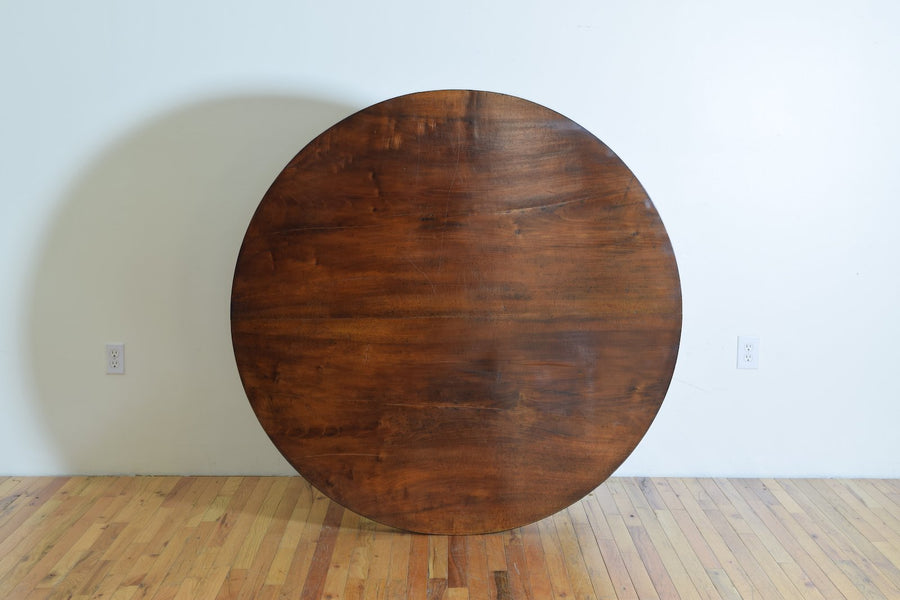 Carved Walnut Center Table