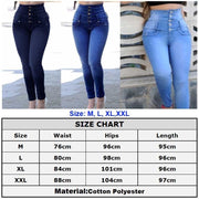 Stretchy Buttons Slim Jeans - NBS