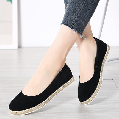 Flats Suede Casual Loafers Slip On Handmade Summer Sneakers - NBS