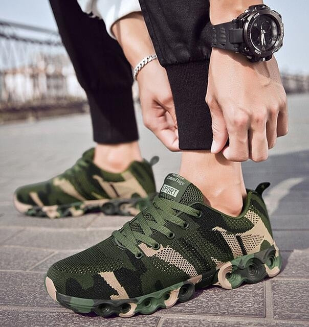 Breathable Camouflage Casual Sneakers - NBS