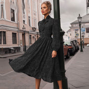 Vintage Autumn Office Lady Commute Dress - NBS