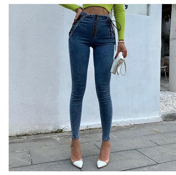 High Waist Hips Tight Jeans - NBS