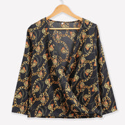 Password Chain Printed Vintage Blouse Shirts - NBS