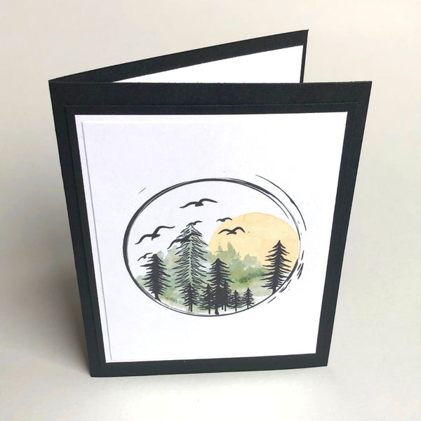 Forest Sunset Card