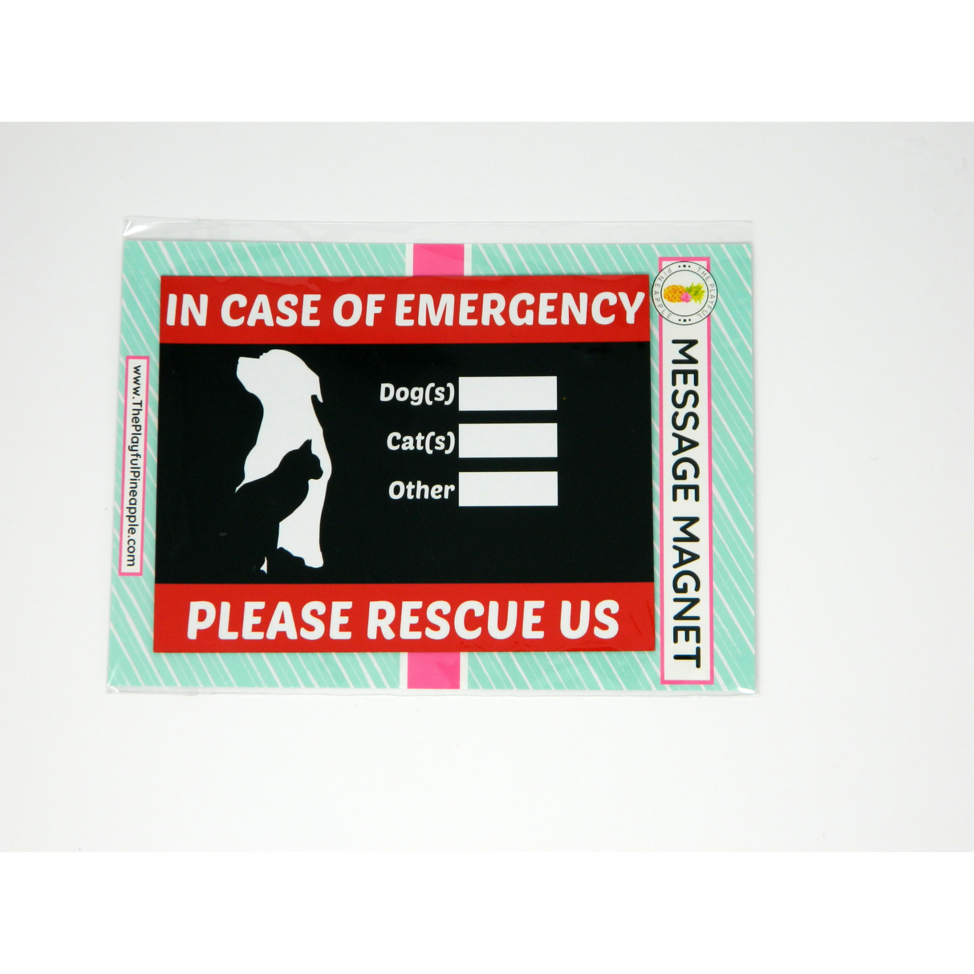 In Case of Emergency Please Rescue Us Message Magnet