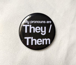 They/Them Pinback Button