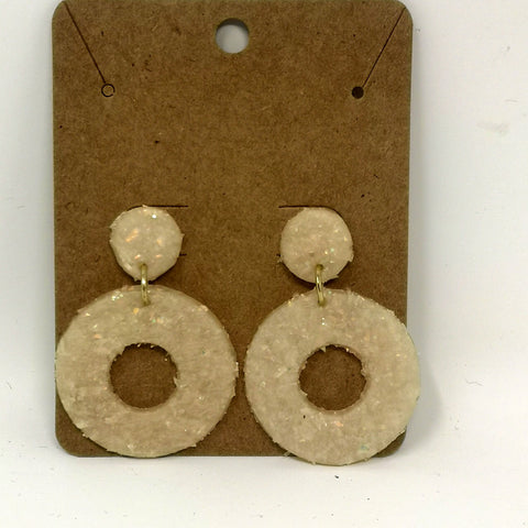 Sparkle Circular Dangle Earrings