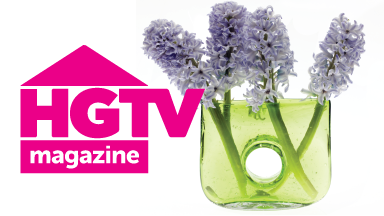 Chive Bliss Glass Flower Vase - Featured in HGTV Magazine