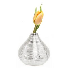 Chive Atrion - Gourd Silver, single stem ceramic decorative flower vase