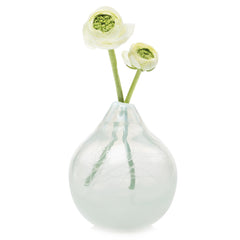 Chive, Atom- Orb White Heavy Traditional Blown Glass Vase