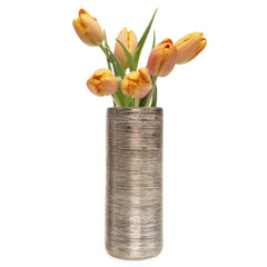 Chive Atrion - Tube Bronze, ceramic decorative flower vase