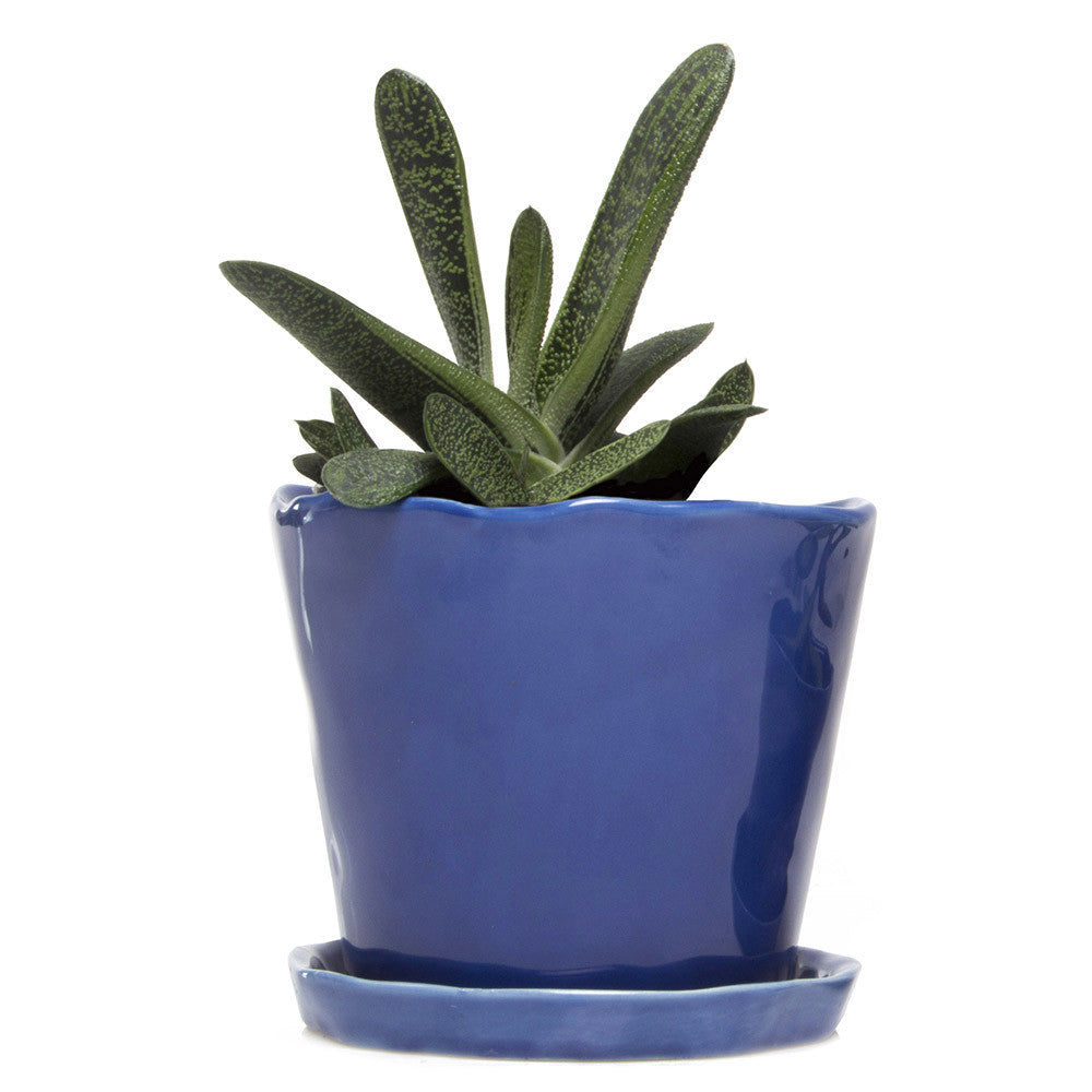 Big Tika Planter - Cobalt, ceramic potted planter