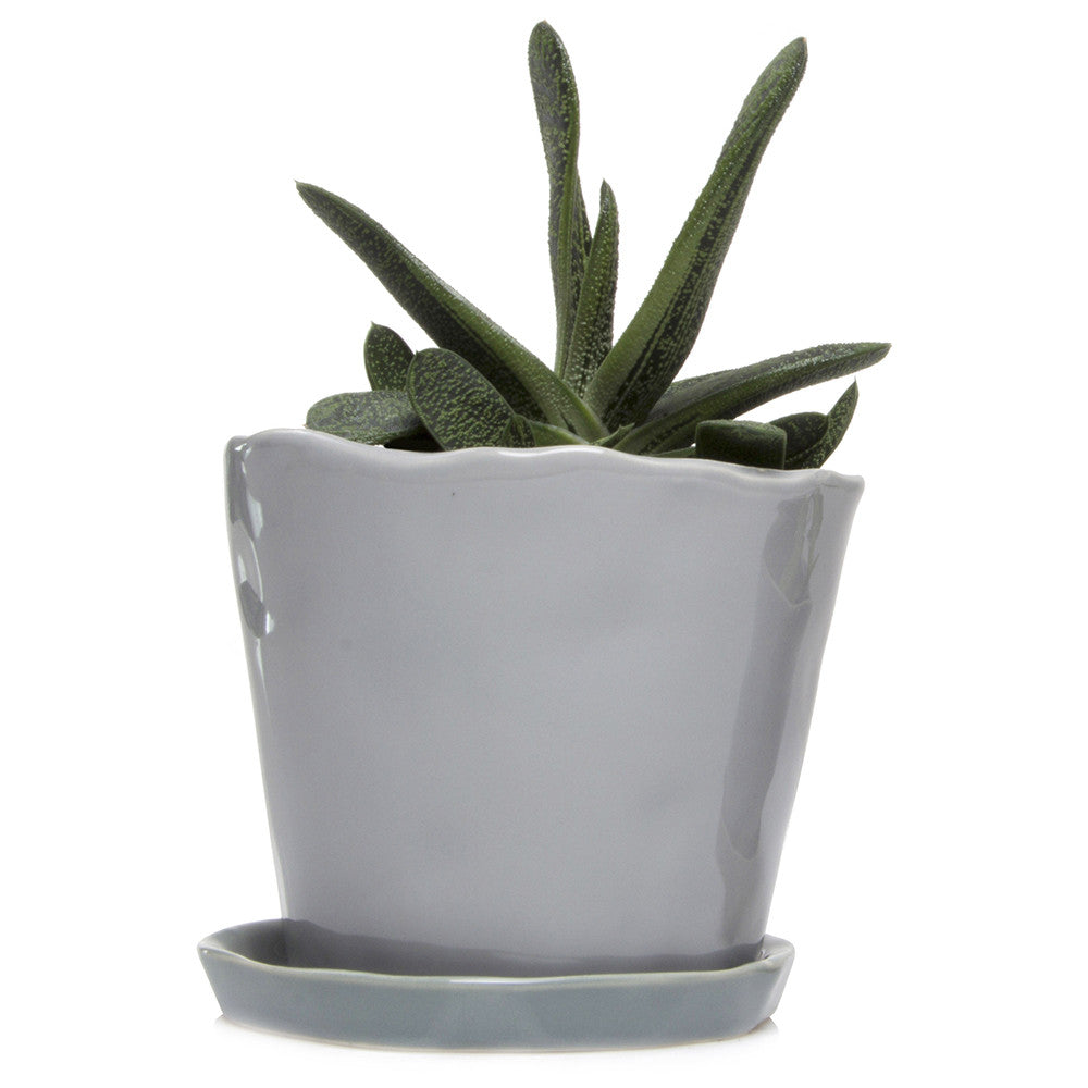 Big Tika Planter - Light Grey, ceramic potted planter