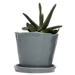 Big Tika Planter - Medium Grey, ceramic potted planter