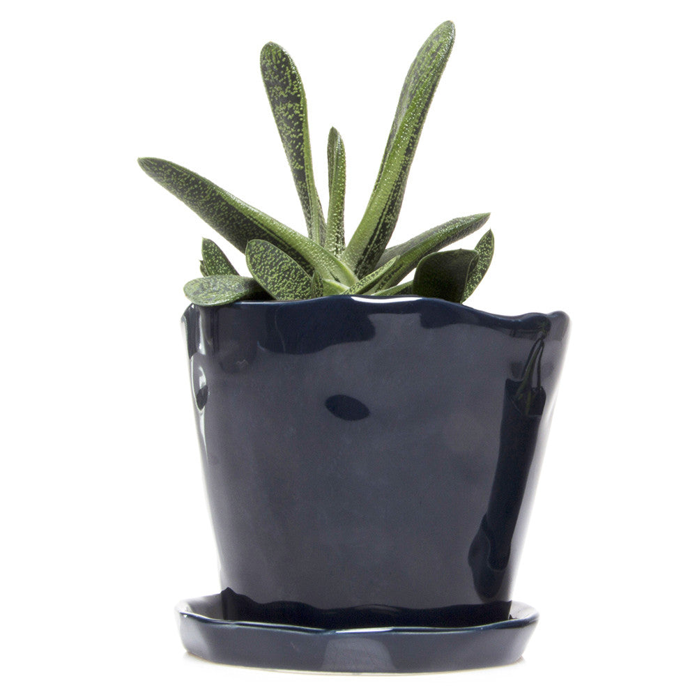 Big Tika Planter - Midnight, ceramic potted planter