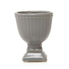 Chive Brilliant - Large Grey Ceramic Potted Planter, empty