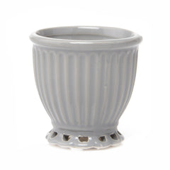 Chive Brilliant - Large Small Ceramic Potted Planter, Empty