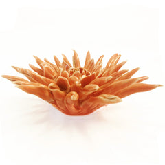 Chive Coral 2 - Flower Orange, Ceramic Decorative Floral Accessory