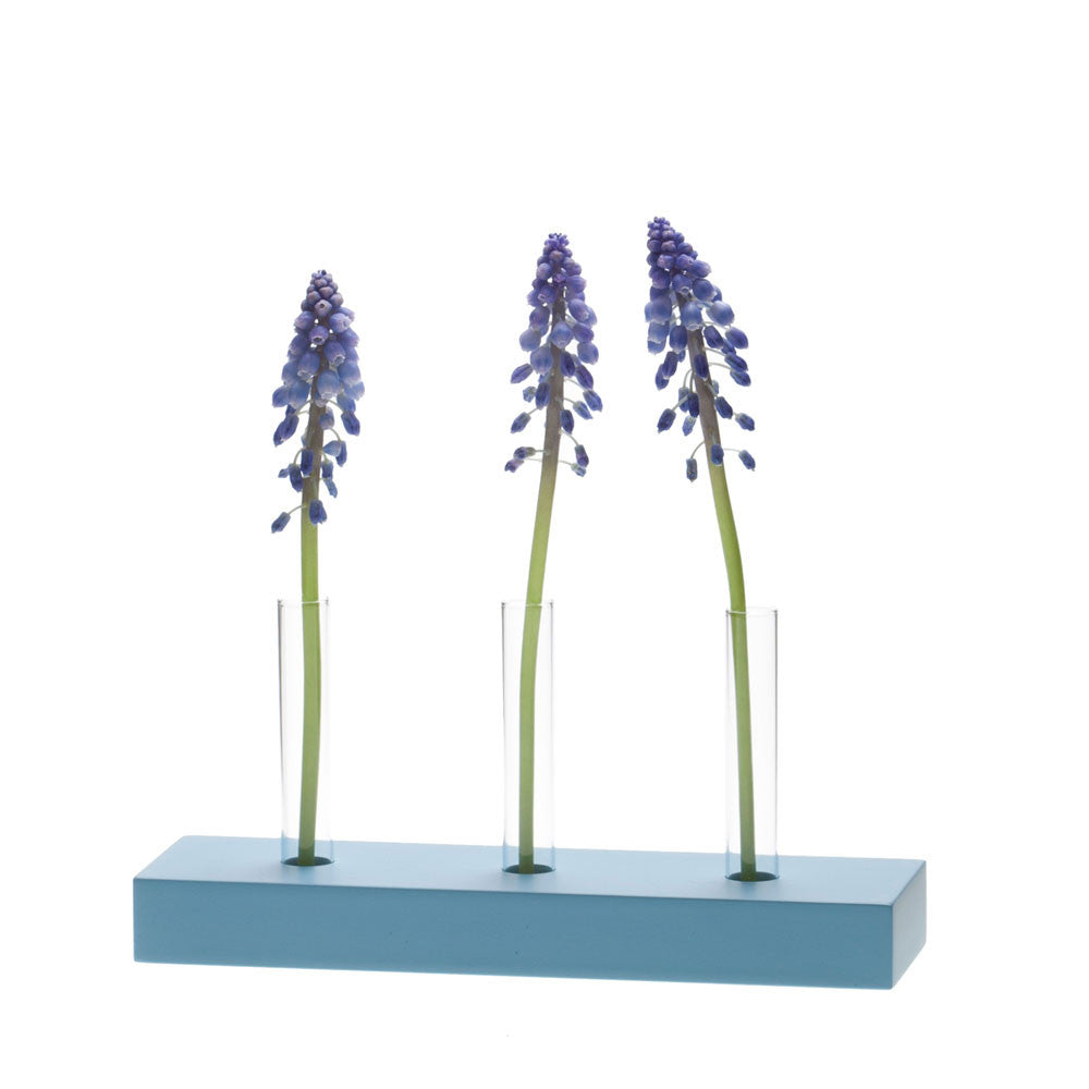 Chive, Calla - 3 hole blue multi test tube bud vase