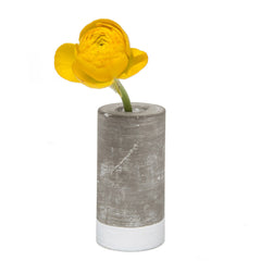 Chive, Cement - Small Tube Flower Vase