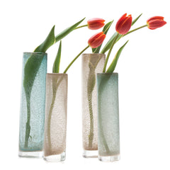 Chive, Chimney -  Small Pipe Copper tube shaped heavy glass long stem flower vase