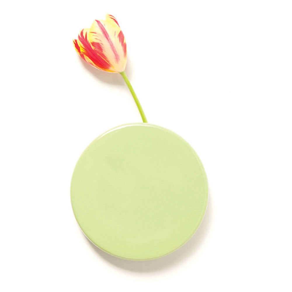 Chive Dot - Kermit Round Ceramic Wall Mount Flower Vase