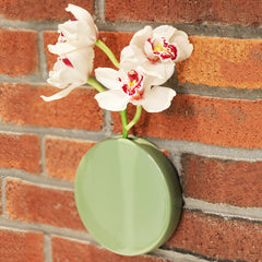 Chive Dot - Moss Ceramic Wall Mount Flower Vase