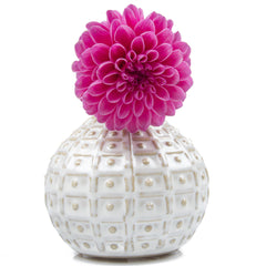 DS - Ceramic White Decorative Bud Vase