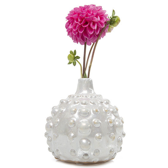 Chive, Fancy Gourd Medium - Cream ceramic vase