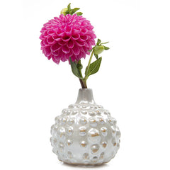 Chive Fancy - Small Orb ceramic textured bud vase