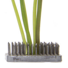 Chive, Frog - Rectangle stainless steel floral arrangement