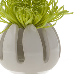 Chive Gideon - Grass Ceramic Floral Frog Dish, Close Up