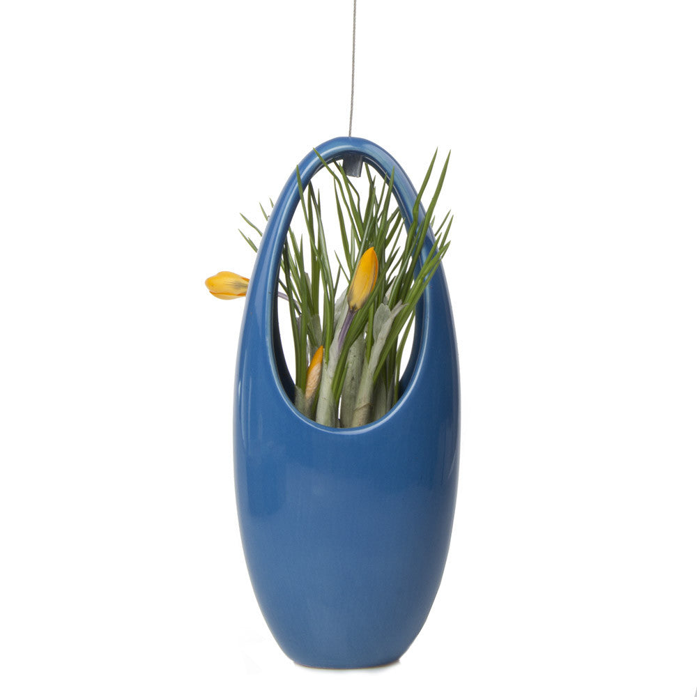 Chive, Hanging Aerium - Egg Dusk, ceramic hanging oval planter