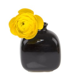 Inkwell - Black, decorative ceramic bud vase