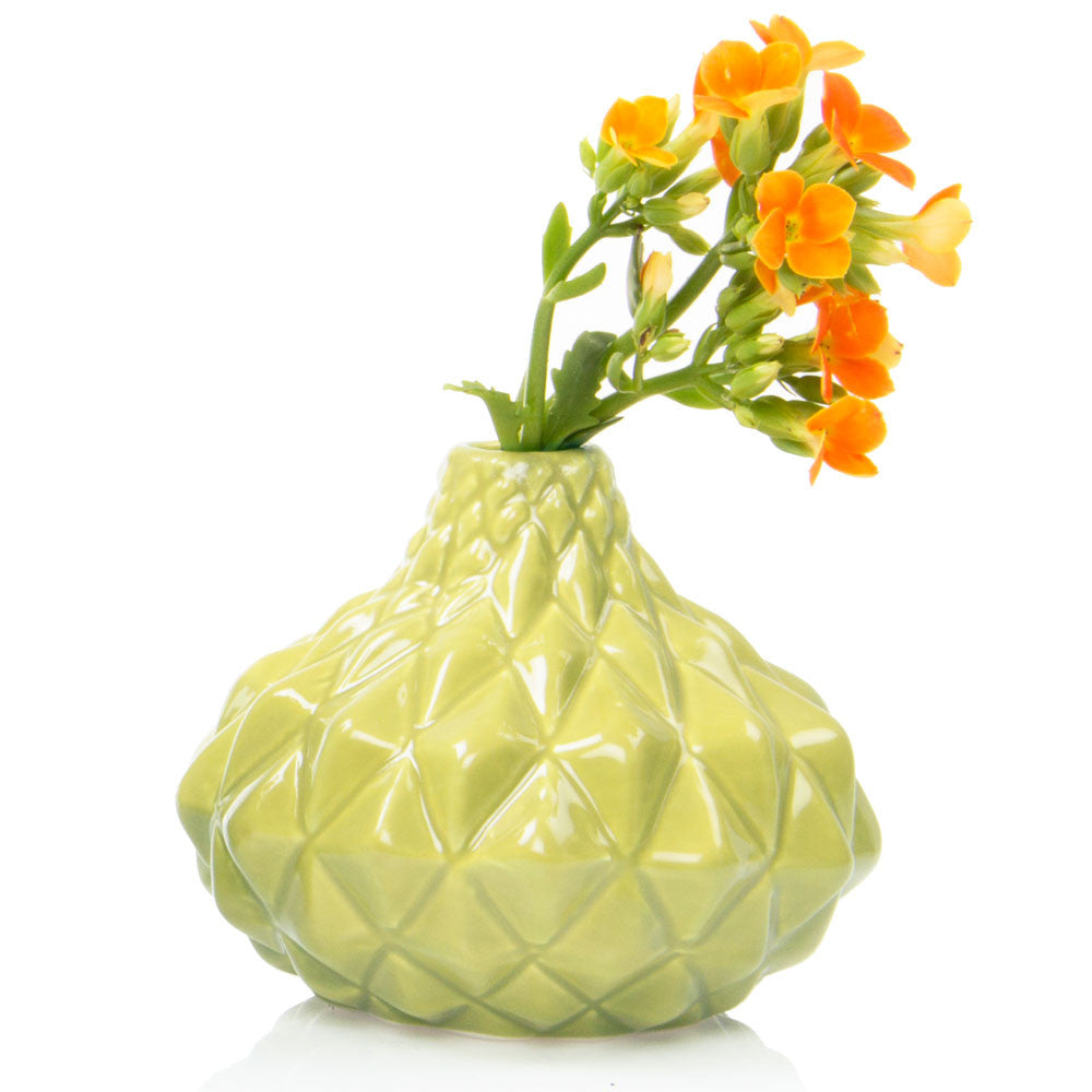 Juvel - Moss, Ceramic Green Bud Vase
