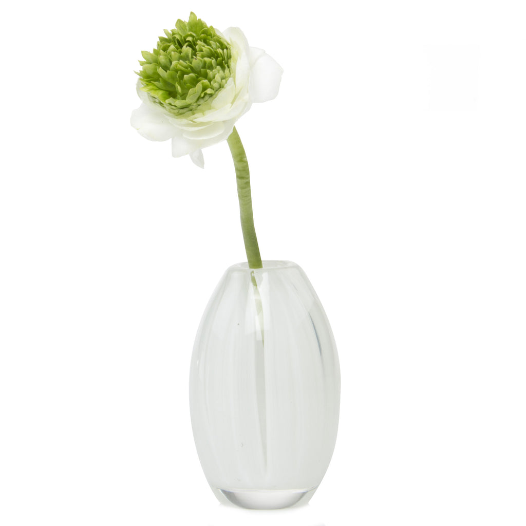 Ligne - Egg White, Heavy Glass Event Vase
