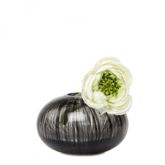 Ligne - Gourd Black, Heavy Glass Event Vase
