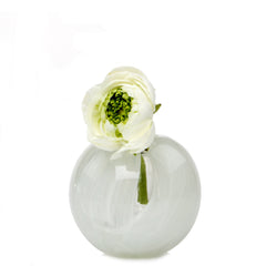 Ligne - Sphere White, Heavy Glass Event Vase
